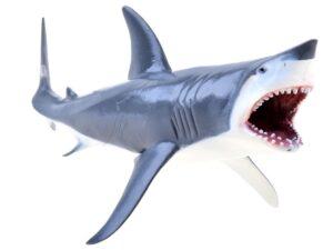 kézzel festett tengeri figura-cápa-20 cm