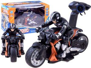 akkumulátoros sport motor-motorossal-2.4 ghz-es távirányítóval-narancs