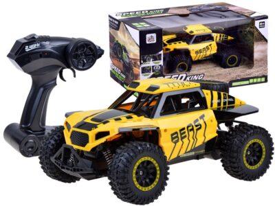 2.4 ghz-es távirányítós-akkumulátoros rc autó-rally-1:14 méretarány-lengéscsillapító-185-20 km/h-sárga