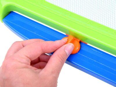 letörölhető színes-mágneses rajztábla-több színben lehet rajta rajzolni-4 db.nyomdával-kék