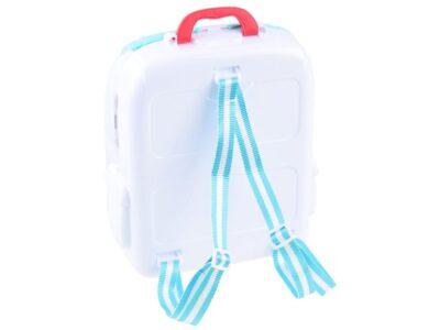 orvosi készlet hátizsákban-sok kiegészítővel-pl. fecskendő-hőmérő-szemüveg stb.