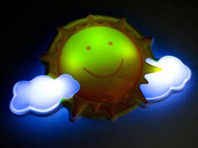 Éjjeli lámpa-távirányítóval-hangeffektusokkal-napocska
