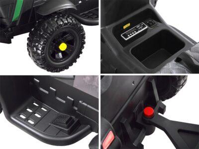 elektromos kistraktor big-lecsatlakoztatható utánfutó-2.4 ghz-es távirányító-műbőr ülés-eva kerék-12v-piros