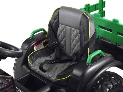 elektromos kistraktor big-lecsatlakoztatható utánfutó-2.4 ghz-es távirányító-műbőr ülés-eva kerék-12v-kék
