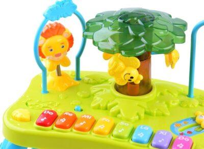 2in1 oktató játszószőnyeg-interaktív asztallal-kabalákkal-bábnak is használható zsiráffal-biztonsági tükörrel-fény és hanghatásokkal-dallamokkal