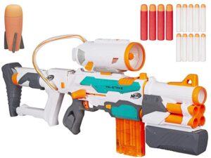 hasbro nerf n-strike modulus tri-strike szivacskilövő fegyver-14 db. habpatronnal-hab rakétával