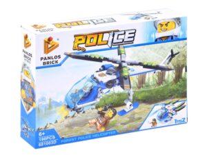 """2 az 1-ben Építő kockák-2 típusú rendőr járgány elkészítéséhez-196 elemes-""""c"""""""
