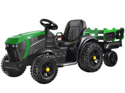 elektromos kistraktor big-lecsatlakoztatható utánfutó-2.4 ghz-es távirányító-műbőr ülés-eva kerék-12v-fekete (másolat)